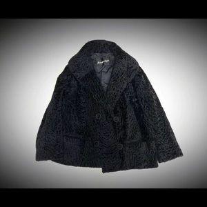 1940s Vintage Black Persian Lamb Jacket Med Large